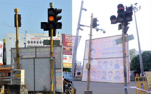 मलकापुर में फ्लेक्स बोर्ड की भरमार
