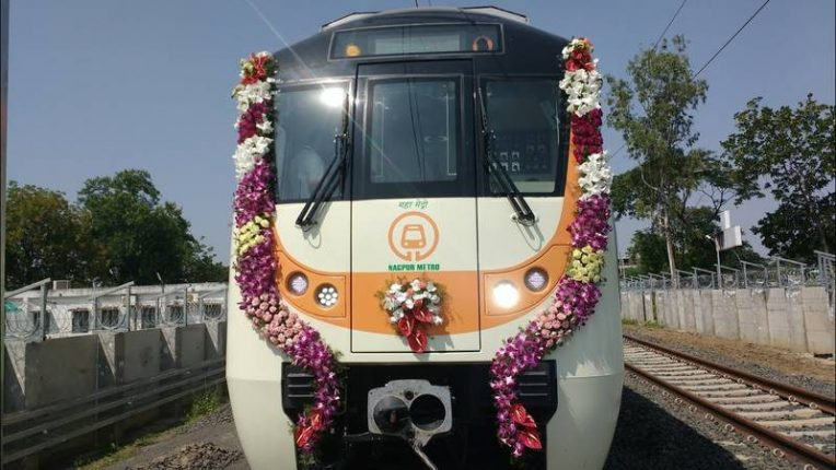 नागपुर में मेट्रो का काम जोरों शोरों से जारी