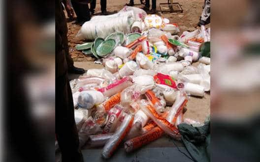 40 kg plastic bag seized, fined 19,000