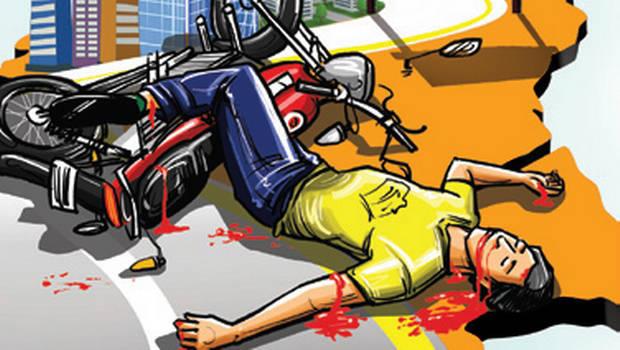 रास्ता दुर्घटना में 2 घायल