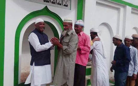 मेहकर में अदा की गई ईद की नमाज