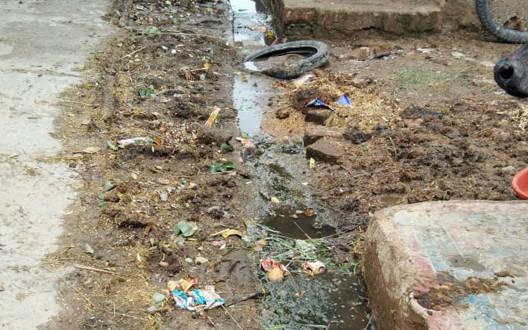 मुस्लिम मोहल्ले में साफ-सफाई की मांग