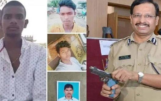 हैदराबाद: पुलिस के साथ कथित मुठभेड़ में चारो आरोपी मृत,दो पुलिसकर्मी घायल
