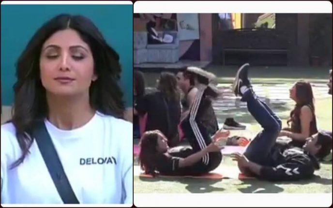Bigg Boss 13: शिल्पा का योग देख घर वालों को याद आई नानी, देखें वीडियो