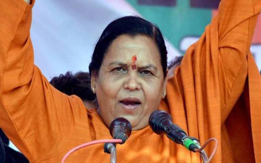 कांग्रेस ने पुरे वोट आम आदमी पार्टी को डलवाए : उमा भारती