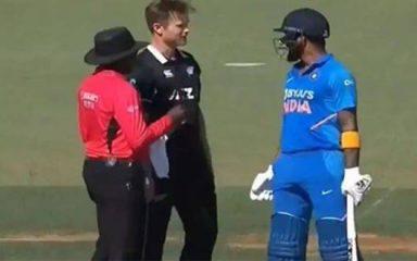 IND Vs NZ: मैदान पर भिड़े राहुल और नीशाम, दोनाें के बीच विवाद