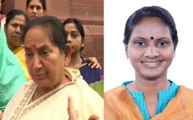 लोकसभा में भाजपा-कांग्रेस की महिला सांसदों में धक्का-मुक्की