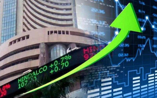 Sensex rises above 900 points in early trade; Nifty turns above 9,800 mark