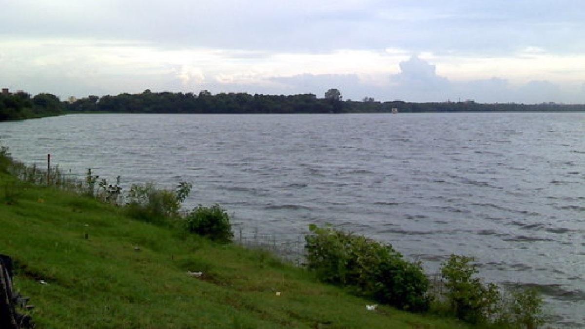 Illegal fishing in Ambajhari pond