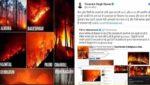 उत्तराखंड के जंगलों में भीषण आग की तस्वीरें 'भ्रामक दुष्प्रचार' : रावत