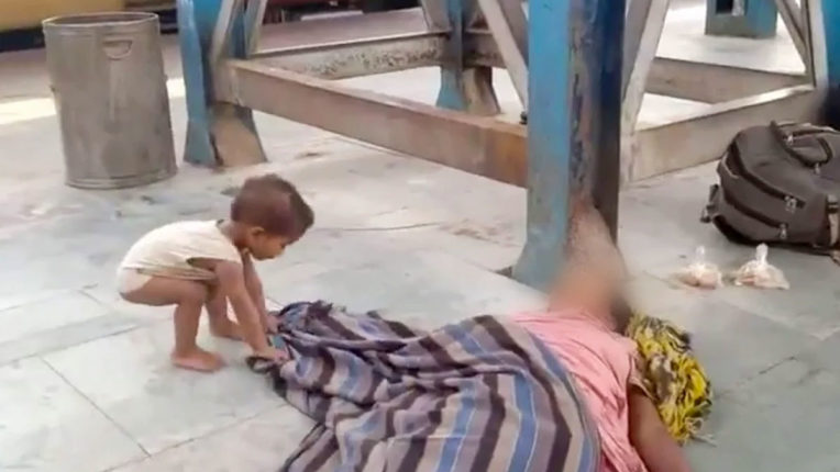 Nine people died in labor trains since Monday, child waking up mother dead at Muzaffarpur station