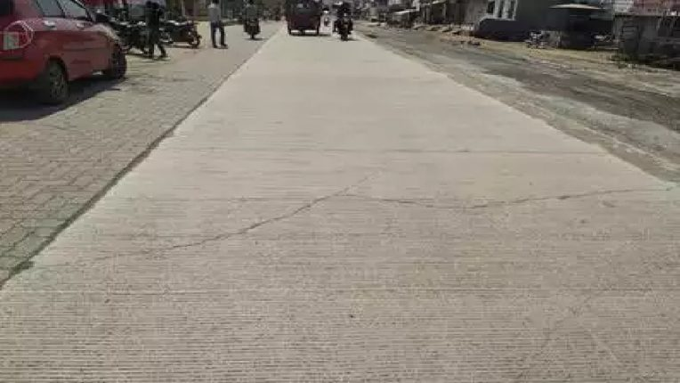 Check cement road construction work, memorandum submitted to CO
