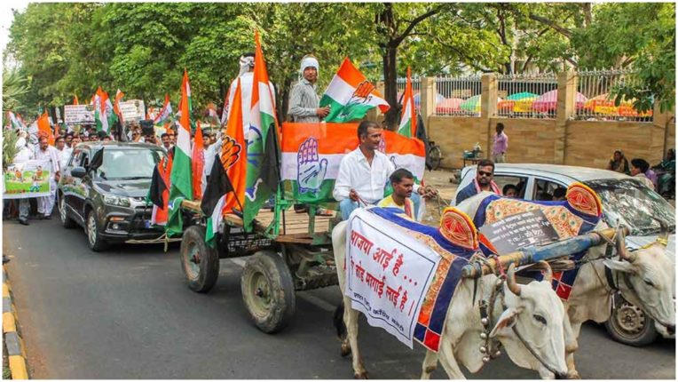 For the prohibition of increase in petrol and diesel price, Congress committee agitated