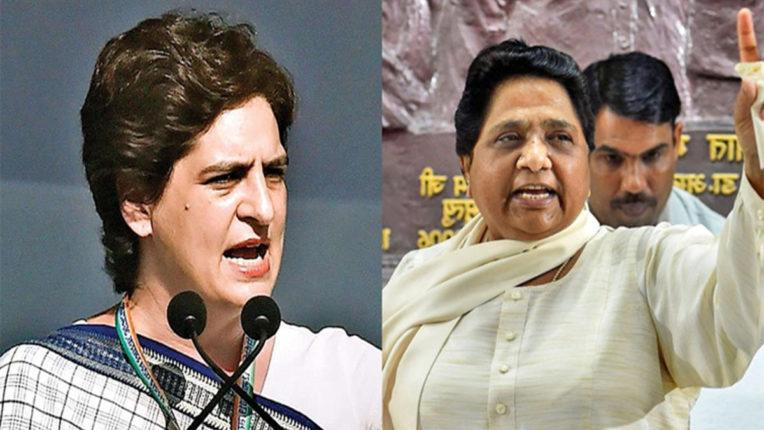 Priyanka Gandhi and Mayawati