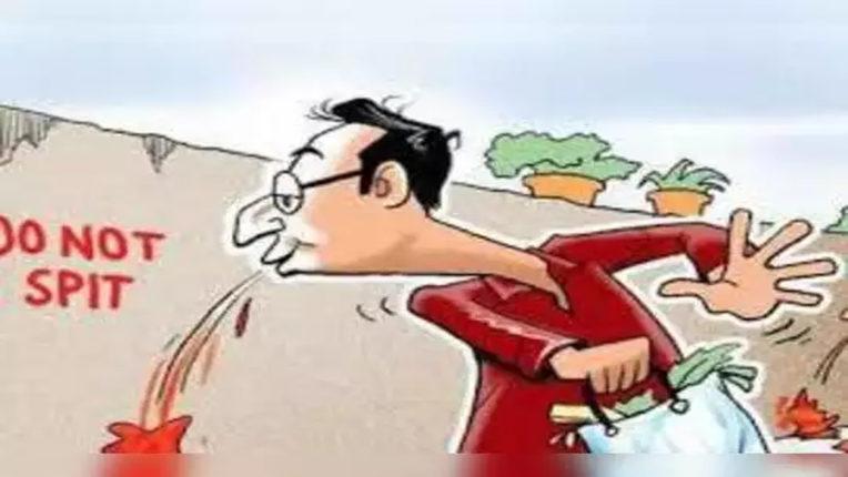 थूंकनेवालों से 8 लाख दंड वसूला, 5255 लोगों पर कार्रवाई
