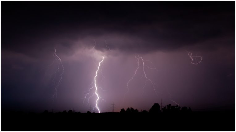 Three people died due to lightning fall