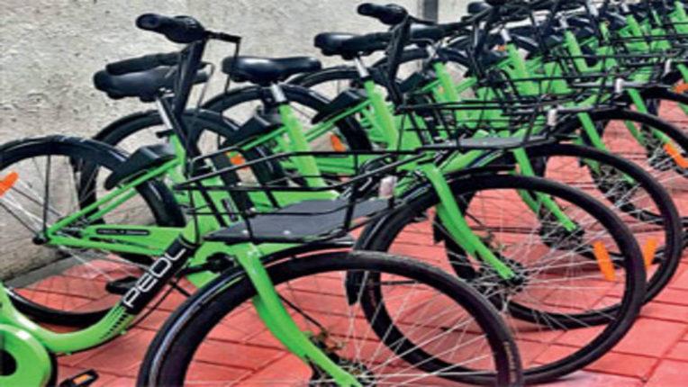 कोरोना के संक्रमण के कारण मनपा की ई-साइकिल सेवा बंद