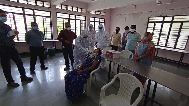 जलगांव में रैपिड एंटीजन टेस्ट शुरू
