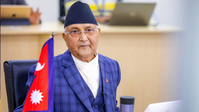 Prime Minister Oli told the cabinet ministers, 'Party in deep trouble'