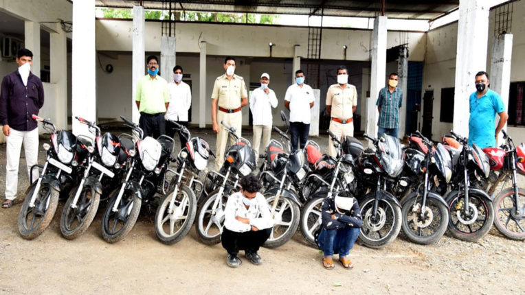 Stolen during lockdown, 11 motorcycles seized, 2 arrested