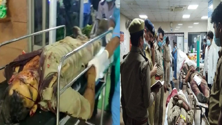 Encounter with criminals in Kanpur: eight policemen killed in encounter in UP