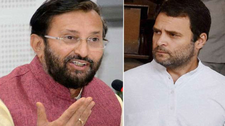 Javadekar's sarcasm on Rahul: Congress seems to be just tweeting party