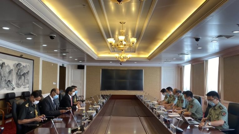 Indian Ambassador to China Vikram Misri meets Central Military Commission