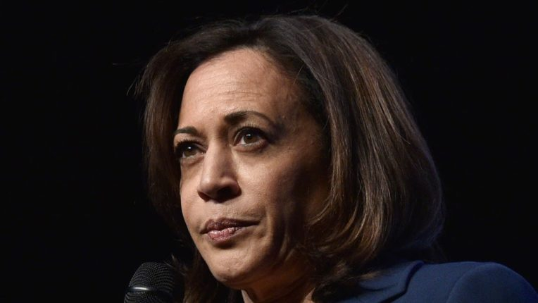 Republican Senator David David Perdue incorrectly pronounces Kamala Harris's name at the election rally