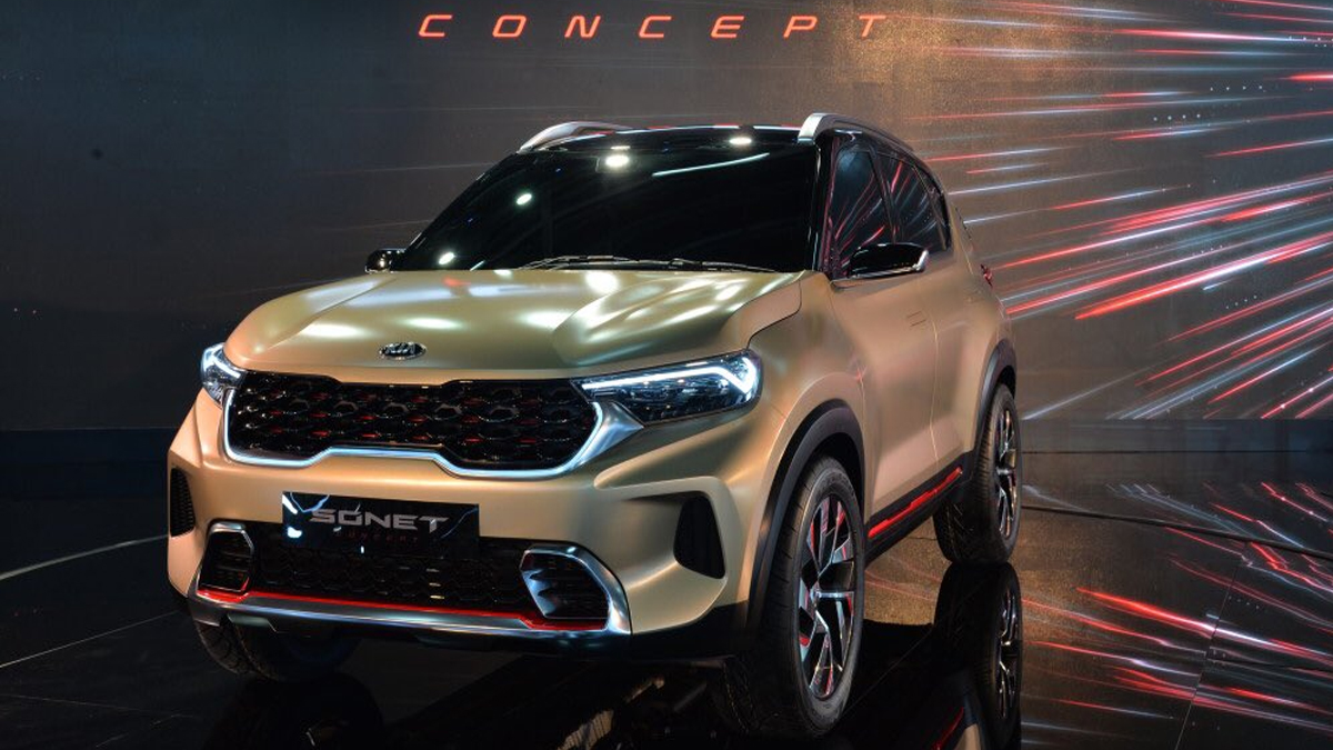Kia SUV Sonet lifts curtain, plans to launch next month | Kia SUV Sonet से  उठा पर्दा, अगले महीने पेश करने की योजना | Navabharat (नवभारत)