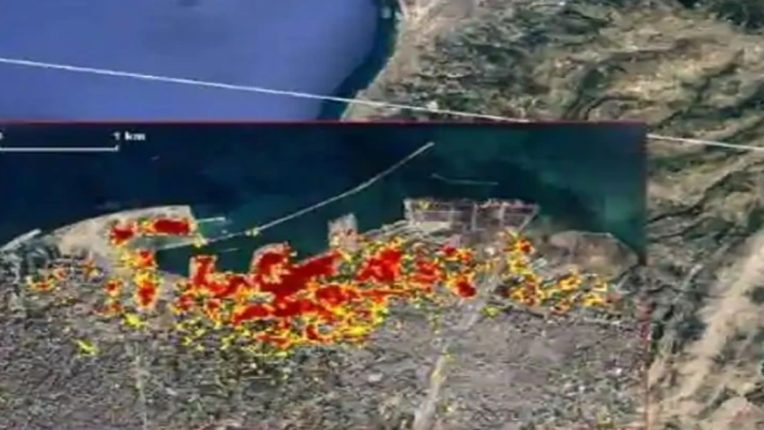 NASA releases satellite picture of Beirut blast