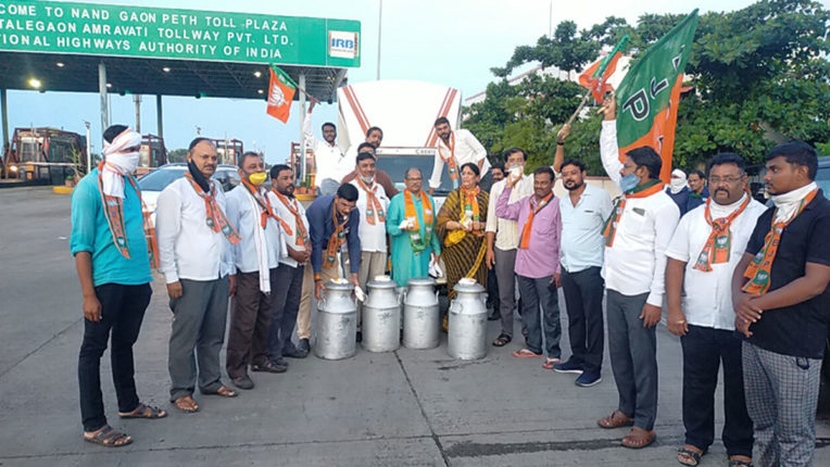 BJP's milk movement Ty-Ty Fiss-Tanker had to wait for 2 hours