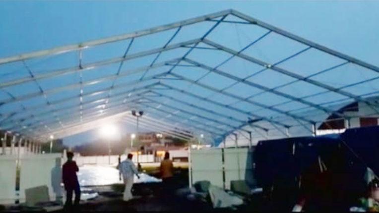 700 bed private corona hospital realizing at Shakuntala Farm