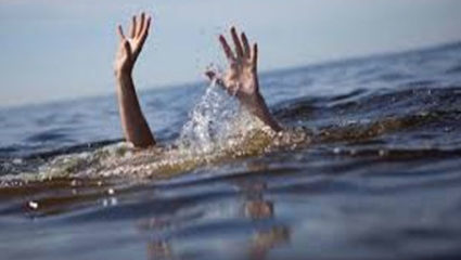 And a young man jumped into the Wardha River