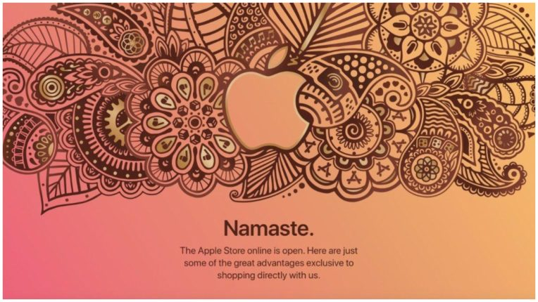 Apple launched its first online store in India