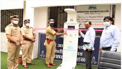 पुलिसकर्मियों की स्वास्थ्य जांच के लिए 'क्लीनिक ऑन क्लाऊड' मशीन