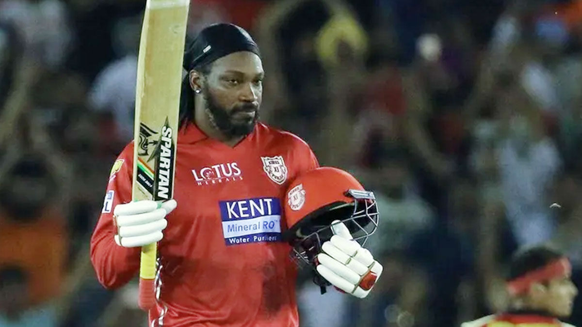 Gayle fined 10 percent of match fees, after being dismissed on 99 runs he had threw his bat in anger