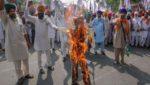 Farmers Protests, Punjab, Modi Effigy