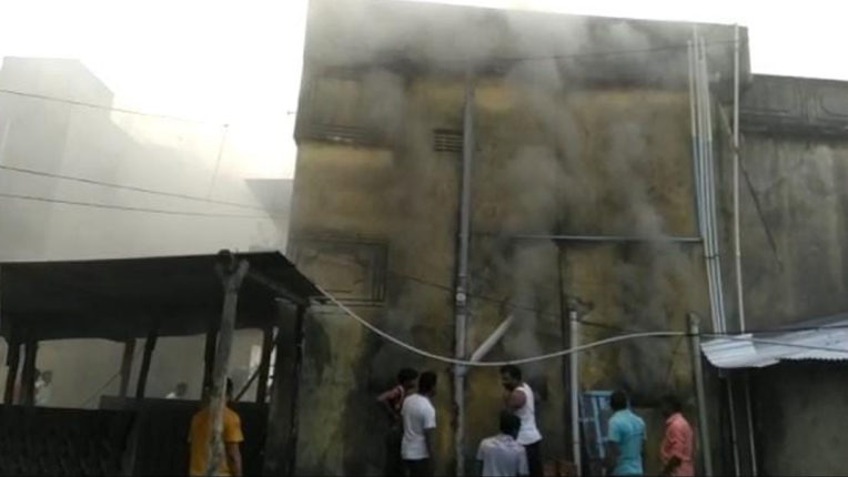 Fire in Sai Machinery & Tractor Part shop