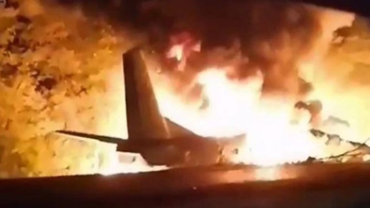 Military aircraft crashes in Ukraine, 25 military cadets killed