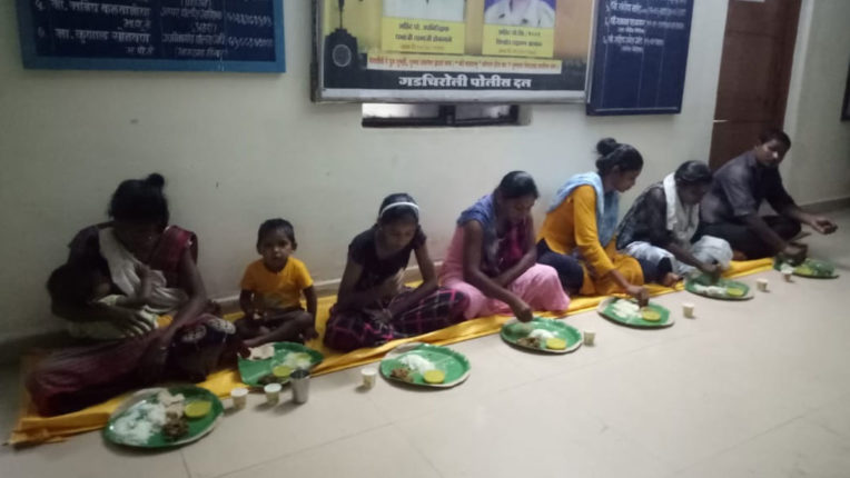 Police provided food and accommodation to bus passengers