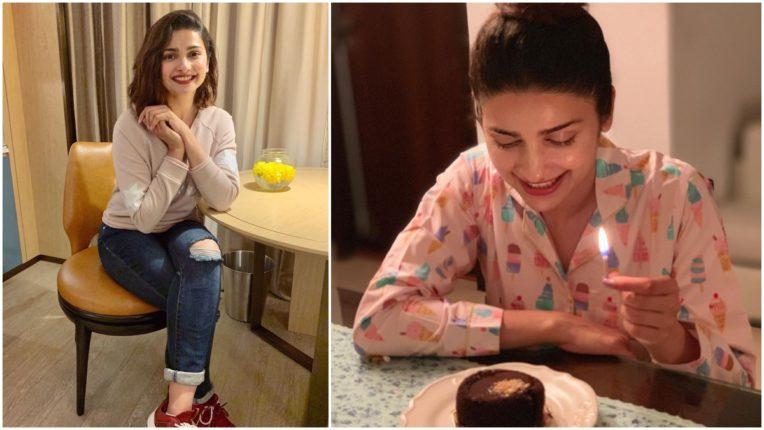 Prachi Desai celebrating her 32nd birthday