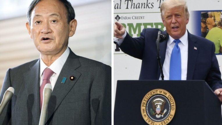 Yoshihide Suga talks to Donald Trump over phone