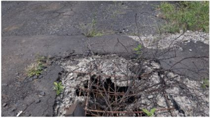 The plight of the road under Goregaon-Mirzapur