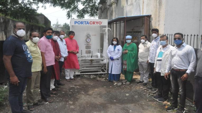 घाटी अस्पताल में ऑक्सीजन लिक्विड टैंक उपलब्ध