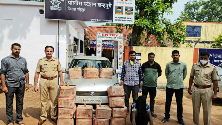 लगातार 5 वें दिन ब्रम्हपुरी पुलिस ने जब्त की देसी शराब