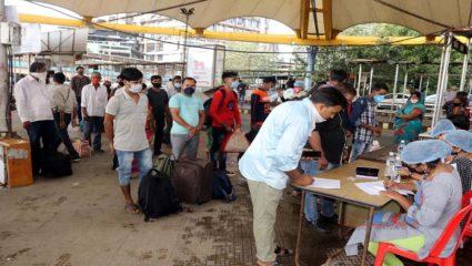 लंबी दूरी से आने वाले 269 यात्री मिले कोरोना पॉजिटिव