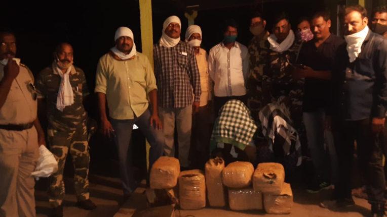 सुल्तानपुर में 58 किलो गांजा जब्त, 7.37 लाख के माल समेत 3 नामजद