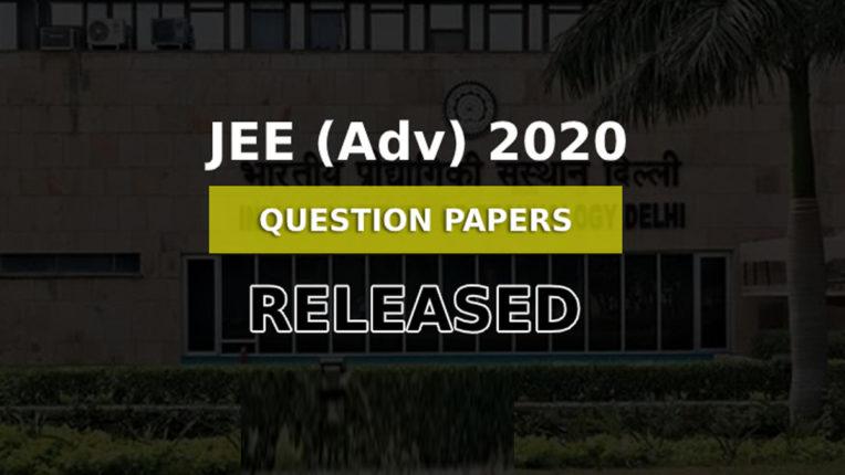 JEE Advanced 2020 का प्रश्न पत्र हुआ अपलोड, यहां करें डाउनलोड