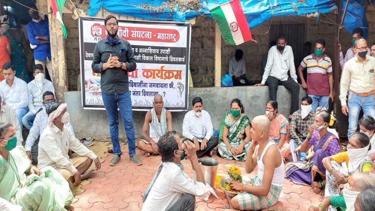 श्रमजीवी संगठन ने किया मुंडन, पिंडदान आंदोलन