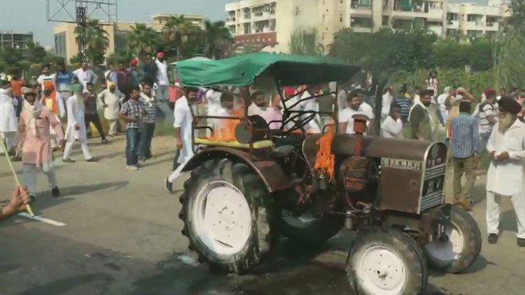 कृषि अध्यादेश के खिलाफ जींद में प्रदर्शनकारियों ने 15 स्थानों पर लगाया जाम